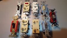Leviton, Bryant, SlaterNew Lot: 8 Switches - Lg Red 20A, all others 15A