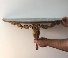 Vintage Baroque Rococo  Retro Gold Gilt Wall Mounted Half Moon Console Table