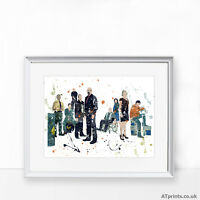 BREAKING BAD Print Poster Watercolour Framed Canvas Wall Art WALTER WHITE JESSIE