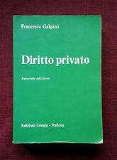 DIRITTO PRIVATO Francesco Galgano II ed. CEDAM 1983