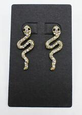 dabf89d04 New Gold Rhinestone Snake Drop Earrings #E1159