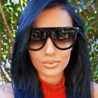 Retro Shadow Glossy Ombre Gradient Flat Top Teardrop Fashion Designer Sunglasses