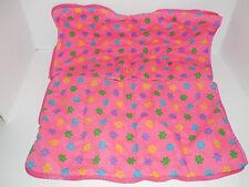 Build A Bear Pink 12X20 Girls Sleeping Bag Zippered Reversible Flowers Accesory