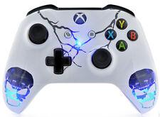 """""""Skulls White"""" Xbox One S Custom UN-MODDED Controller Unique Design"""