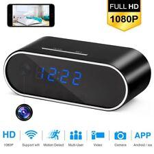 Wireless WiFi 1080P HD Spy Hidden Alarm Clock Camera IR Motion Security Cam DVR