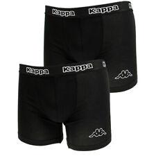 Kappa Mens 2 Pack Boxer Shorts Black Classic Logo Underwear Sportswear Boxers