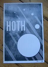 STAR WARS HOTH Planet Print signed ltd -/30 Metalic Force Awakens Movie