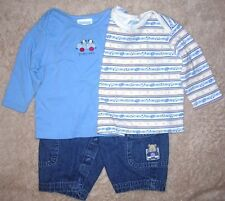 3-6 month boys lot of 2 t-shirts by Tykes-puppies in cars with Carter's jeans