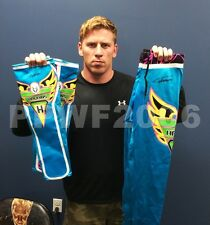 WWE CURT HAWKINS RING WORN AND HAND SIGNED TIGHTS AND KICK PADS WITH PIC PROOF