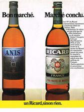 PUBLICITE ADVERTISING 064  1984  RICARD apéritif MARCHE CONCLU