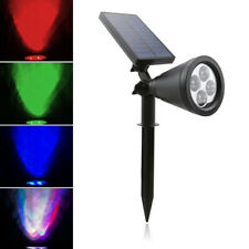 4 LED Solar Power PIR Motion Sensor Garden Light Outdoor Lamp Colorful Walkway