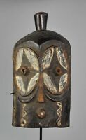 Masque zoomorphe hibou BEMBE CONGO Owl Mask African Tribal Art Africain