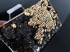BCBG MAXAZRIA Sonia Beaded Sequined Clutch Evening Purse NWT $198