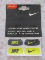 Nike Swoosh Eyeblack Stickers Home & Away OSFM Yellow/Black 12 Pairs