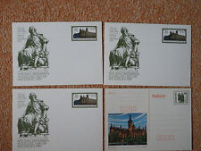 Sonderpostk. Otto v. Guericke 1989 DDR Briefmarkenausst. (3x) **+Postkarte 30Pf