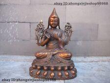 Tibet Buddhism Temple Copper Bronze Tsong-kha-pa Tsongkhapa Guru Buddha Statue