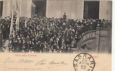 NP7753 - OZIERI SASSARI - USCITA DALLA CATTEDRALE VIAGGIATA 1902