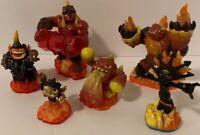 Skylanders Fire Characters Lot of 6, Swap Force, Trap Team, Giants, Lightcore