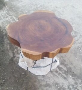 Teak Root Coffee Table Reclaimed 47cm Hand Finished Side Table Sustainable