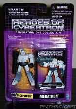 TRANSFORMERS HEROES OF CYBERTRON DECEPTICON MEGATRON GENERATION ONE COLLECTION