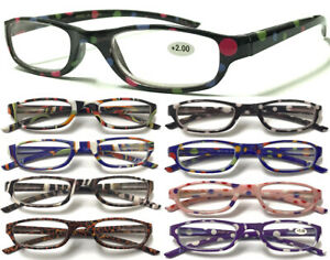 L181 Classic Pocket Reading Glasses/Small Frame/Dotty,Animal Pattern/Great Value