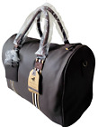 Large Real Leather Holdall Luggage Weekend Travel Overnight Gym Bag