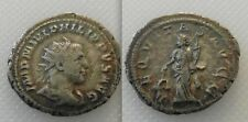COLLECTABLE PHILIP II SILVER ANTONINIANUS ROMAN COIN (AD 247-249)  AEQUITAS