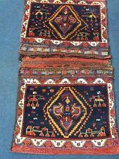 Handmade Afshari Saddlebag Pile Rug Oriental
