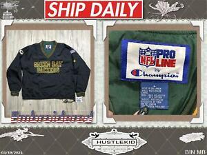 Vintage Men Green Bay Packers Champion Pro Line Pullover Jacket 90s VTG Large L❄