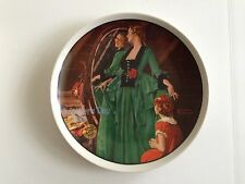 """""""Grandma's Courting Dress"""" Collector Plate 1984 Mother's Day Norman Rockwell"""