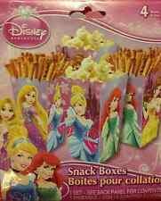 DISNEY PRINCESS PARTY 16PCS SNACK BOXES - DISPOSABLE - NEW!