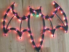 "Large Black 18"" Lighted Bat w Wings Spread Halloween Decoration"