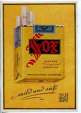Fox-Eine Virginia Cigarette-Orginal Manoli Cigaretten-Werbung 1949 -gerade links