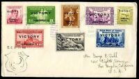 PHILIPPINES TO USA Cover 1945 VF