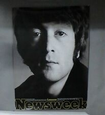 SUPER RARE VINTAGE NEWSWEEK UNPUBLISHED ISSUE JOHN LENNON OF THE BEATLES POSTER
