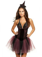 Ann Summers Witch Costume Sexy Halloween Fancy Dress Black Purple Bewitched £25