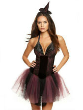 Ann Summers Womens Bewitched Witch Costume Purple Erotic Outfit Fancy Dress 8-10