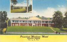 Madison Indiana President Madison Motel Linen Antique Postcard J60605