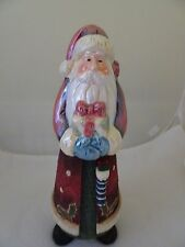 """New listing Santa 12"""" Figurine-Resin And Porcelain-Stand Alone-Christmas/Holiday Decor"""