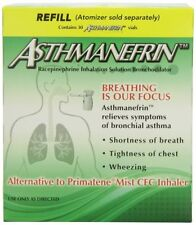 [2 PACK] Asthmanefrin Asthma Medication Refill 30 Count Expiration Date 2-2018