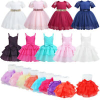 Flower Girl Dress Sequins Tutu Baby Princess Birthday Party Wedding Formal Dress