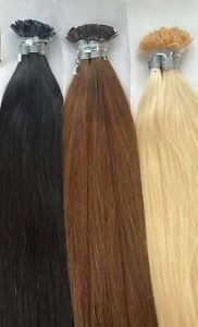 MONGOLIAN DOUBLE DRAWN 16'' FLAT TIPS PRE BONDED 1G  HUMAN HAIR EXTENSIONS