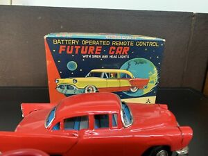 VINTAGE FUTURE CAR- SPACE THEME BY KS JAPAN, MINT CONDITION WITH O'BOX 1950'S