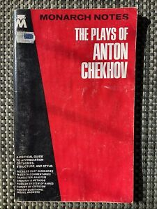 THE PLAYS OF ANTON CHEKHOV vintage 1965 Monarch notes study guide