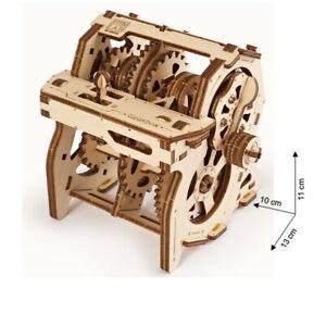 Ugears - Wood Model Building Gearbox Stem Lab Manual Lernmodell App Function