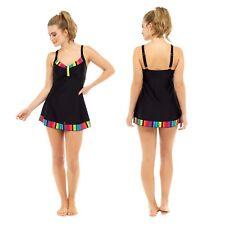 Ladies Tummy Control Swimsuit One Piece Swim Dress/bikini DESIGNER Swimwear 16