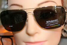Polaroid Aviator Style Gold Metal Double Bar Sunglasses PLD2001/S J5G
