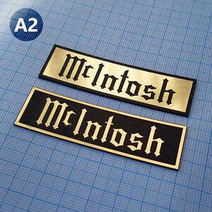 2 x McIntosh METALLIC Case Logo Sticker Badge - 2.75 inch/1 inch - 70 mm / 20 mm
