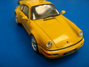 Welly  / porsche 964 turbo / 1/24 scale / welly 43611 / yellow / 964 turbo