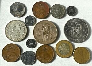 Lot of 14 Coins from Mexico !